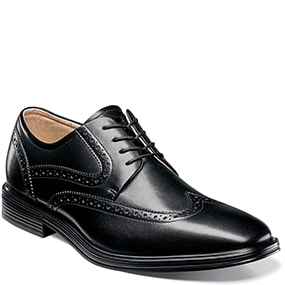 Pinnacle  Wingtip Oxford in Black for 49.90 dollars.