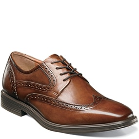 Pinnacle  Wingtip Oxford in Cognac for $79.90