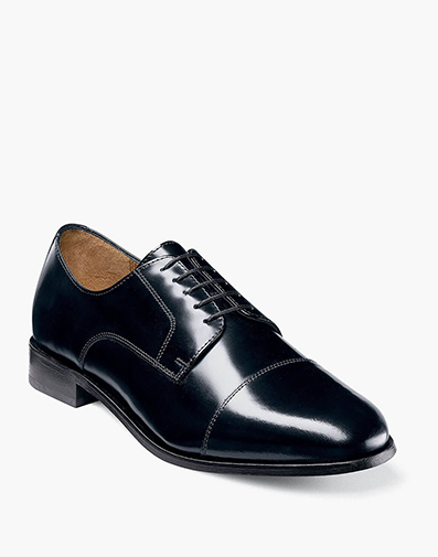 Baldwin Cap Toe Oxford in Navy for 49.90 dollars.