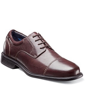Freedom Cap Toe Oxford in Brown Tumbled for $49.90