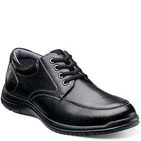 Pacer Moc Toe Oxford  in Black Tumbled for $49.90