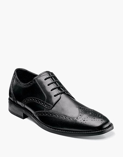 Montinaro Wingtip Oxford in Black for 79.90 dollars.