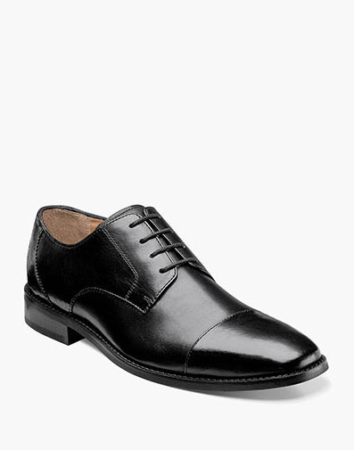 Montinaro Cap Toe Oxford in Black for 79.90 dollars.