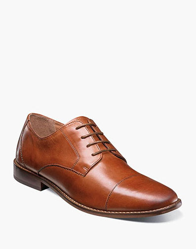 Montinaro Cap Toe Oxford in Saddle Tan for 79.90 dollars.