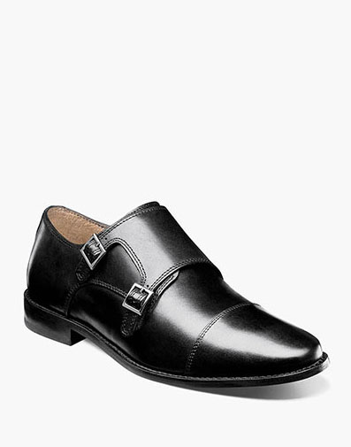 Montinaro Cap Toe Monk Strap in Black for 79.90 dollars.