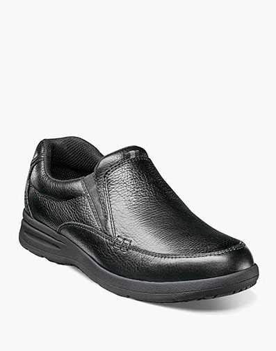 Cavin Moc Toe Slip On in Black Tumbled for 59.90 dollars.