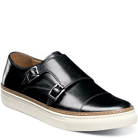 Press  Cap Toe Double Monk in Black for $59.90