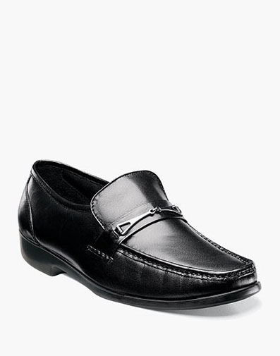 Rovito Moc Toe Bit Loafer in Black for 79.90 dollars.