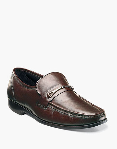 Rovito Moc Toe Bit Loafer in Brown for 79.90 dollars.