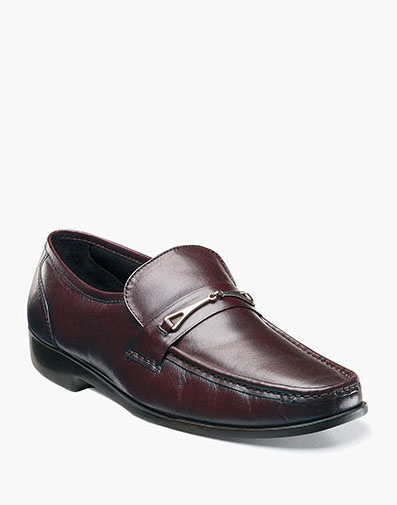 Rovito Moc Toe Bit Loafer in Burgundy for 79.90 dollars.