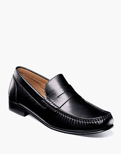 Beaufort Moc Toe Penny Loafer in Black for 130.00 dollars.