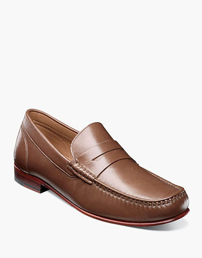 Beaufort Moc Toe Penny Loafer in Cognac for 130.00 dollars.