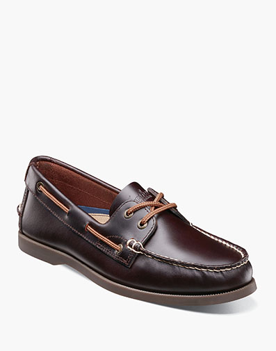 Nevis Moc Toe Boat Shoe in Burgundy for 39.90 dollars.