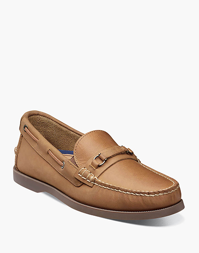Nevis Moc Toe Bit Loafer in Tan Nubuck for 34.90 dollars.