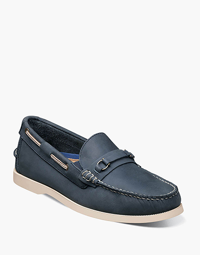 Nevis Moc Toe Bit Loafer in Navy for 34.90 dollars.