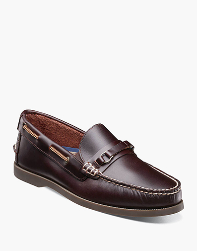 Nevis Moc Toe Bit Loafer in Burgundy for 34.90 dollars.