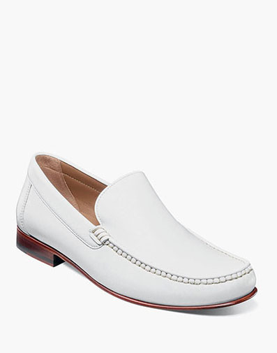 Beaufort Moc Toe Venetian Loafer in White for 130.00 dollars.