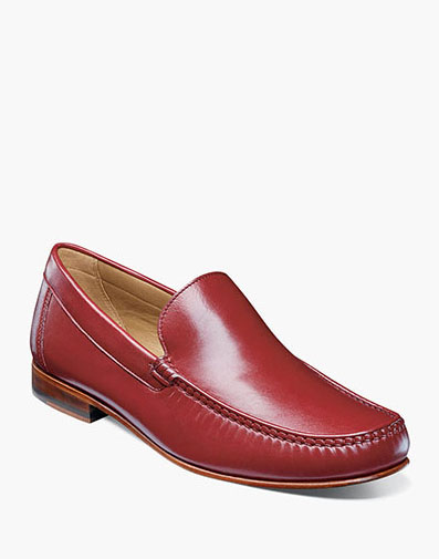 Beaufort Moc Toe Venetian Loafer in Red for 130.00 dollars.