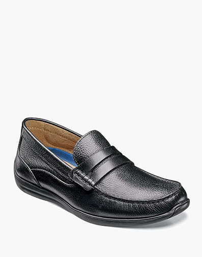 Creston Moc Toe Penny Loafer in Black Tumbled for $59.90
