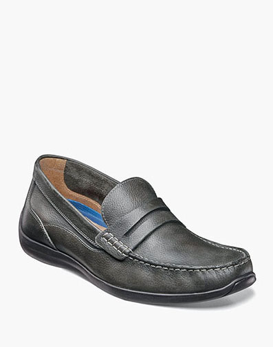 Creston Moc Toe Penny Loafer in Charcoal for $59.90