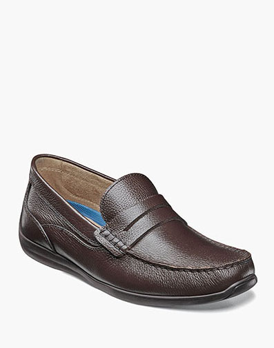 Creston Moc Toe Penny Loafer in Brown Tumbled for $59.90