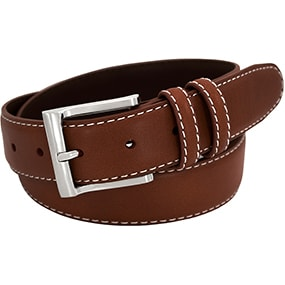Texan Genuine Leather Belt in Brown for $24.90
