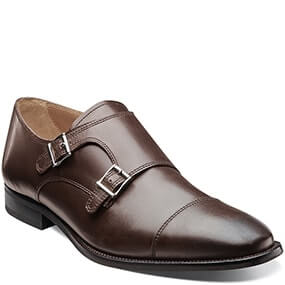 Sabato Cap Toe Monk Strap Oxford in Brown for 59.90 dollars.