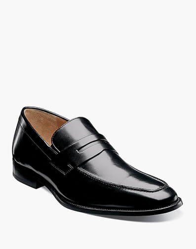 Sabato Moc Toe Penny Loafer in Black for 49.90 dollars.