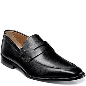 Sabato Moc Toe Penny Loafer in Ebony Printed for $64.90