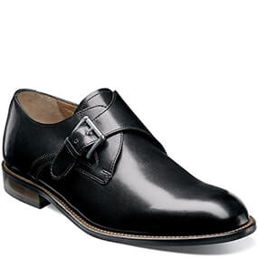 Pascal Plain Toe Monk Strap Oxford in Black for $59.90