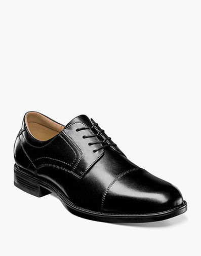 Midtown Cap Toe Oxford in Black for 115.00 dollars.