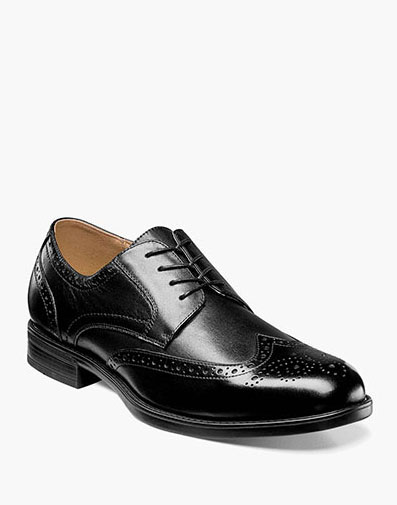 Midtown Wingtip Oxford in Black for 115.00 dollars.