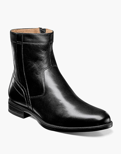 Midtown Plain Toe Zipper Boot in Black for 125.00 dollars.