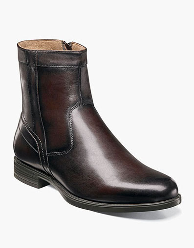 Midtown Plain Toe Zipper Boot in Brown for 125.00 dollars.