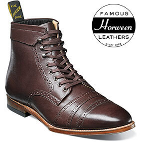 125th Boot Double Cap Toe Boot in Chocolate for $199.90