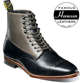 125th Boot Cap Toe Boot in Black/Gray for $275.00