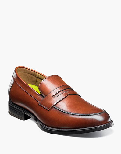 Midtown Moc Toe Penny Loafer in Cognac for 115.00 dollars.