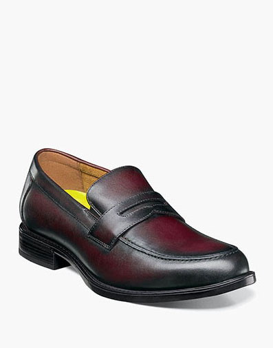 Midtown Moc Toe Penny Loafer in Burgundy for 89.90 dollars.