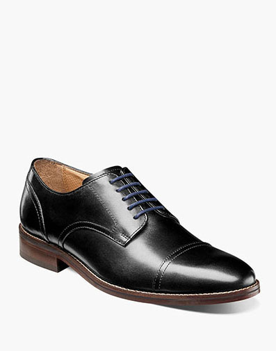 Salerno Cap Toe Oxford in Black for 115.00 dollars.