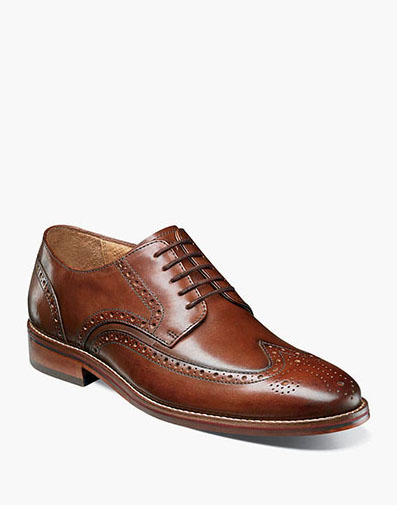 Salerno Wingtip Oxford in Cognac for $110.00