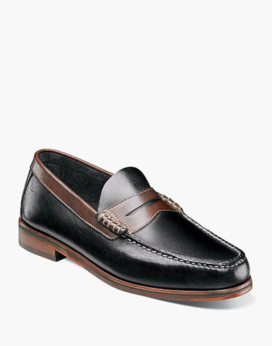 Heads Up Moc Toe Penny Loafer in Black Multi for 49.90 dollars.
