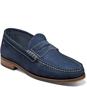 7f1ba556ae3 Heads Up Moc Toe Penny Loafer in Navy Suede for  79.90