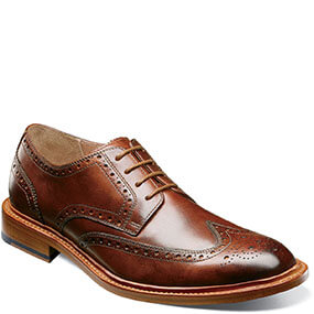 Mercantile Wingtip Oxford in Cognac for $195.00