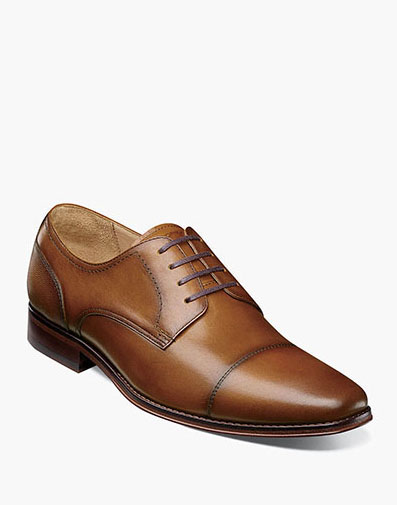 Palermo Cap Toe Oxford in Cognac for $175.00