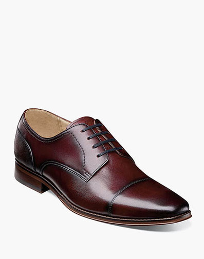 Palermo Cap Toe Oxford in Burgundy for 129.90 dollars.