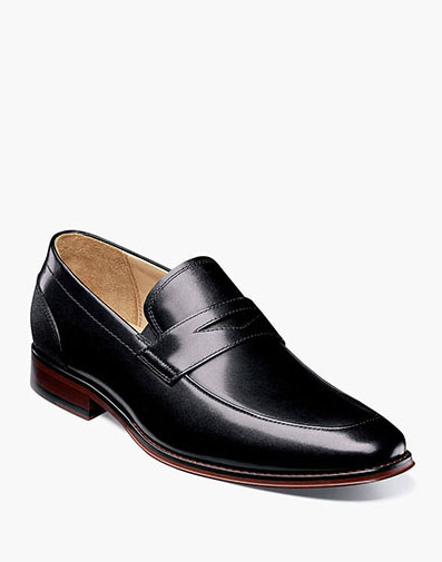 Palermo Moc Toe Penny Loafer in Black for 129.90 dollars.
