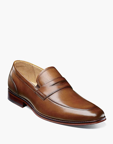 Palermo Moc Toe Penny Loafer in Cognac for 99.90 dollars.