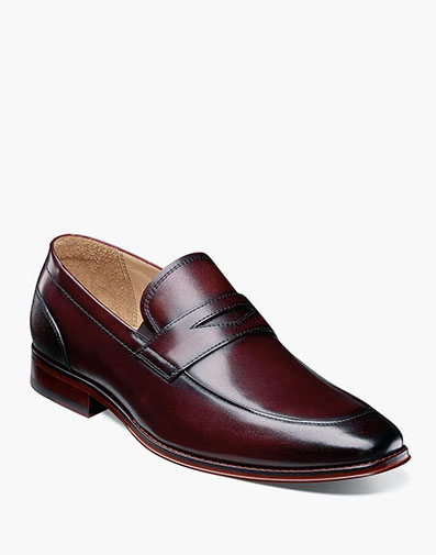 Palermo Moc Toe Penny Loafer in Burgundy for 129.90 dollars.