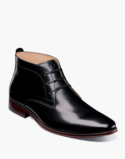 Palermo Plain Toe Chukka Boot in Black for 159.90 dollars.