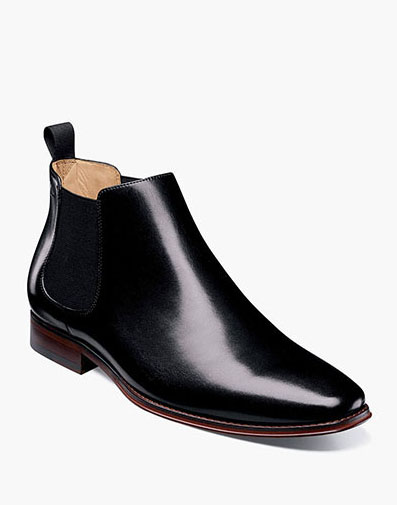 Palermo Plain Toe Gore Boot in Black for 159.90 dollars.